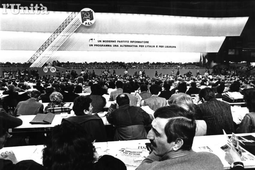 La sala del XVII congresso.